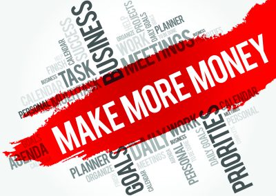 59410819 - make more money word cloud business concept